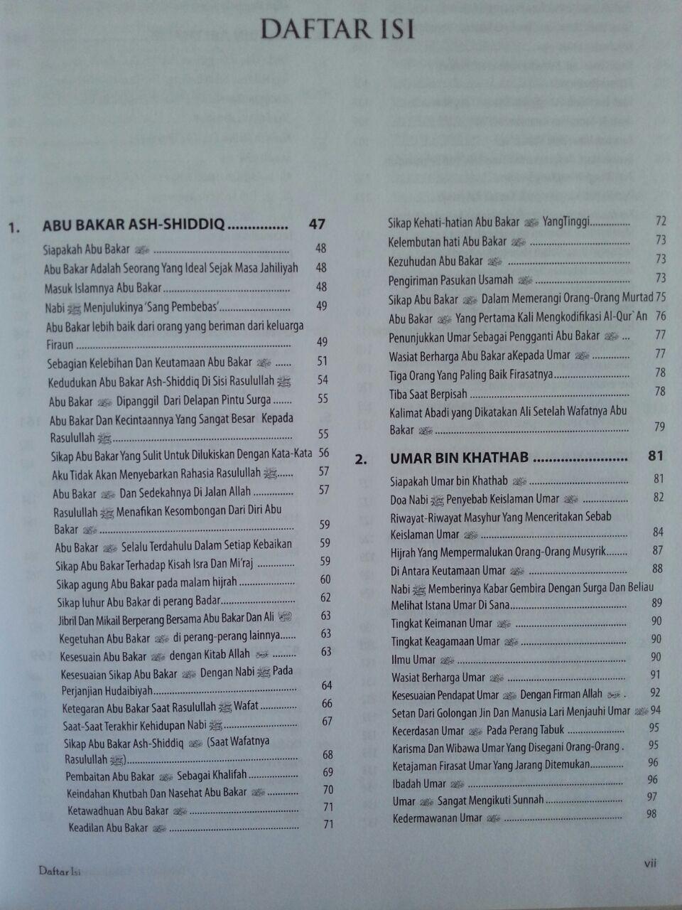 Buku Biografi 104 Shahabat Nabi isi