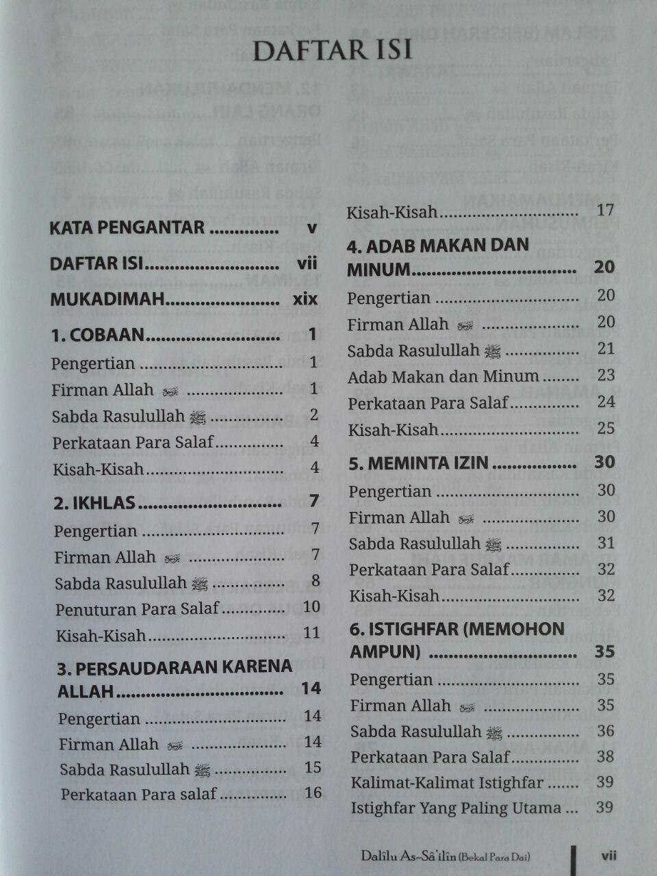 Buku Dalilu As-Sailin Bekal Seorang Dai isi