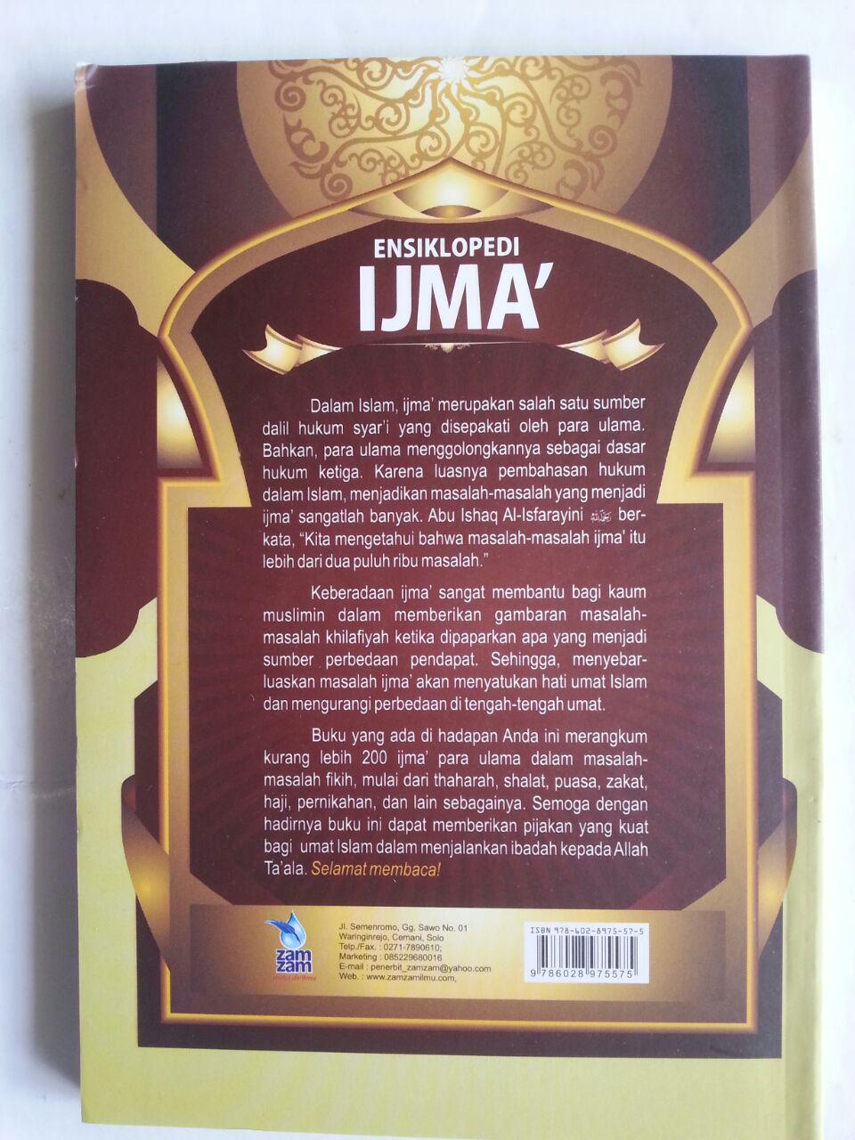 Buku Ensiklopedi Ijma 200 Perkara Ibadah Yang Disepakati cover