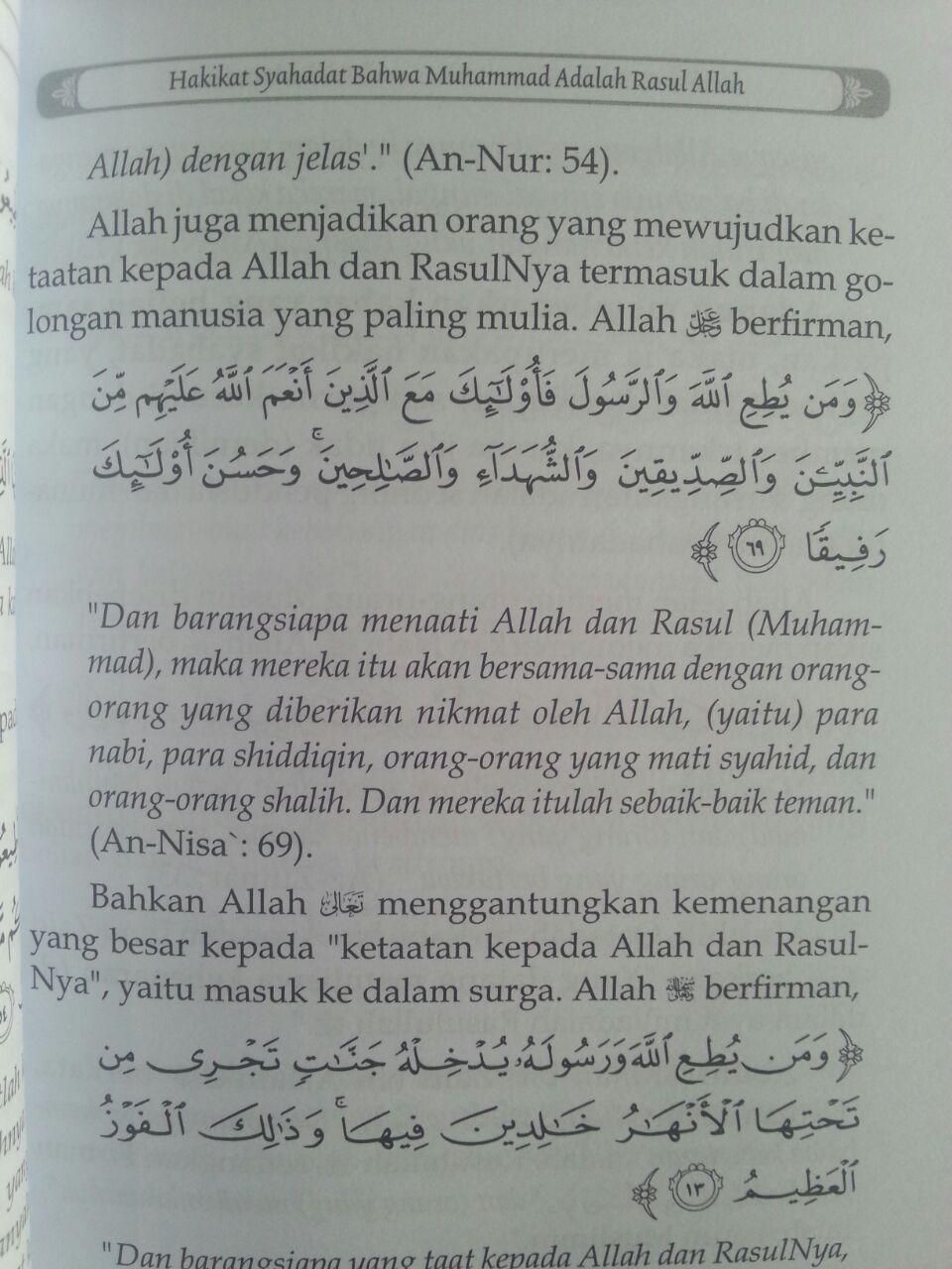 Buku Hakikat Dan Konsekuensi Syahadat Nabi Muhammad Utusan Allah isi 3