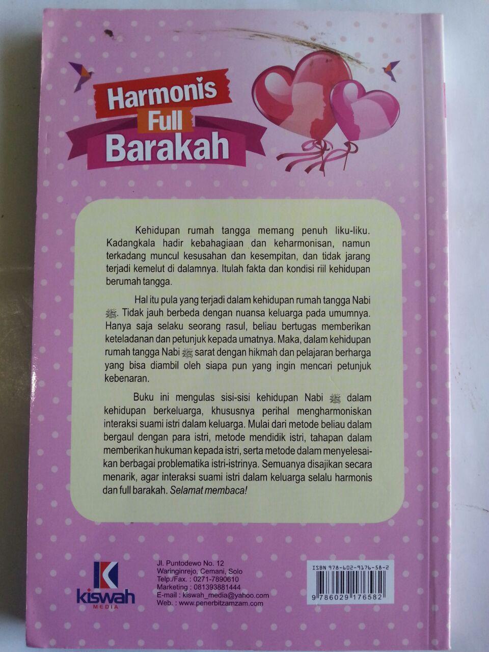 Buku Harmonis Full Barakah Cara Nabi Mewujudkan Keharmonisan cover