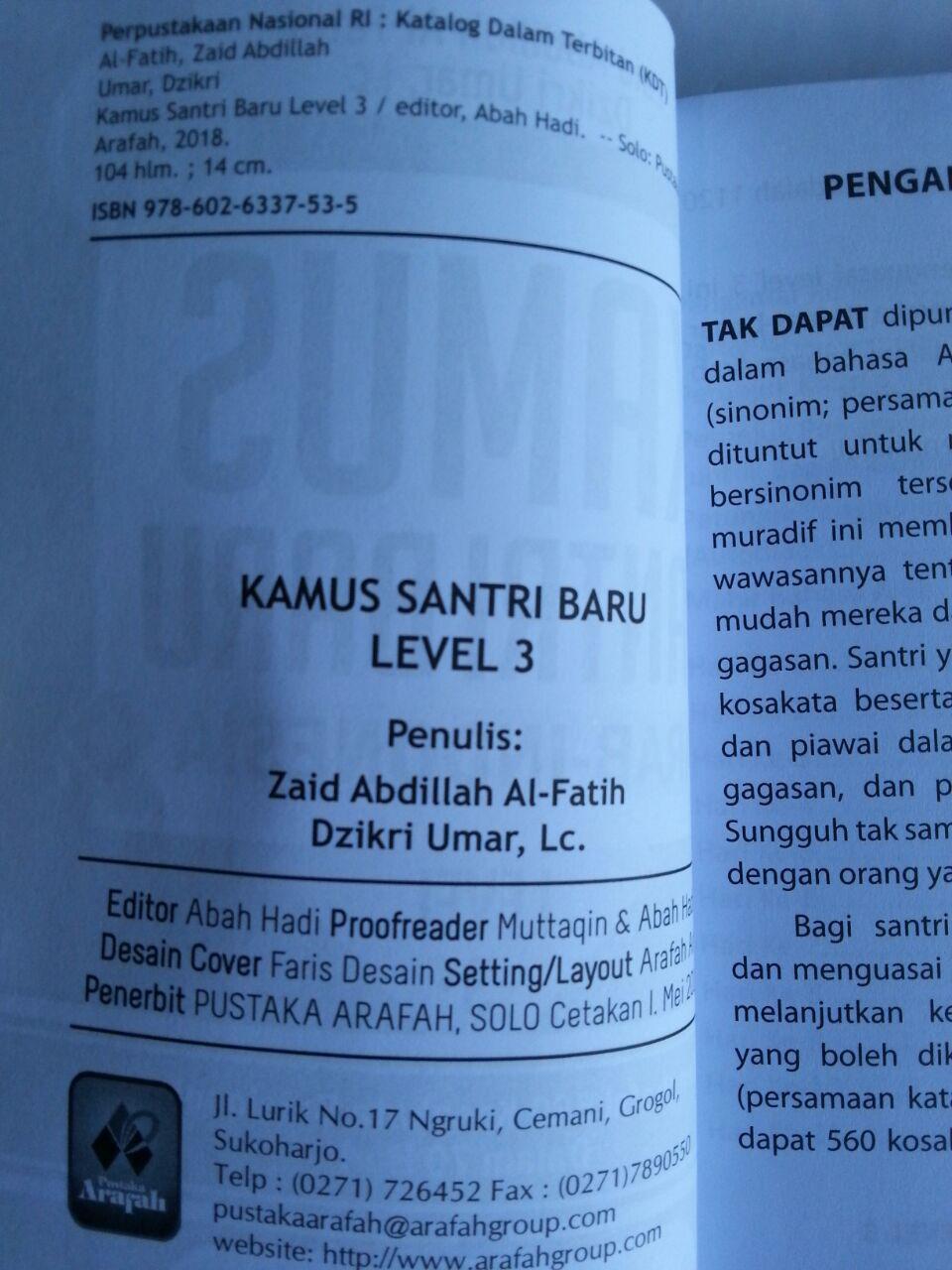 Buku Kamus Santri Baru Arab Indonesia 1 Set 3 Jilid isi