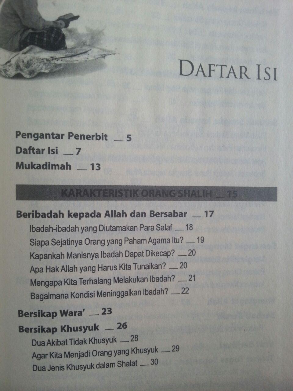 Buku Karakter Rajulun Shalih Kepribadian Menurut Quran Sunnah isi 2