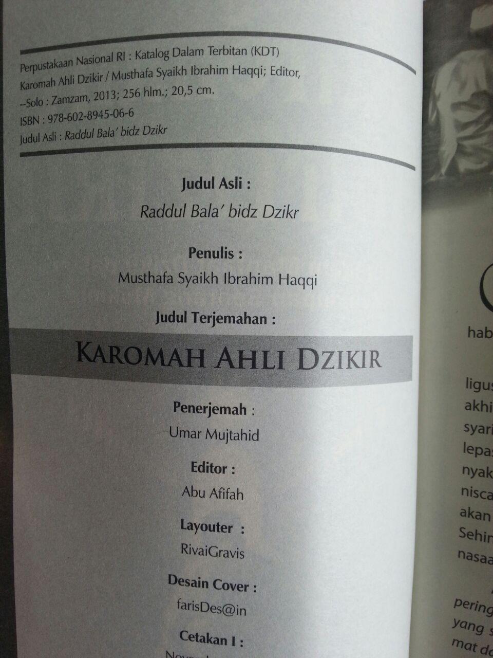 Buku Karomah Ahli Dzikir Beragam Manfaat Dzikir Mukmin isi 2