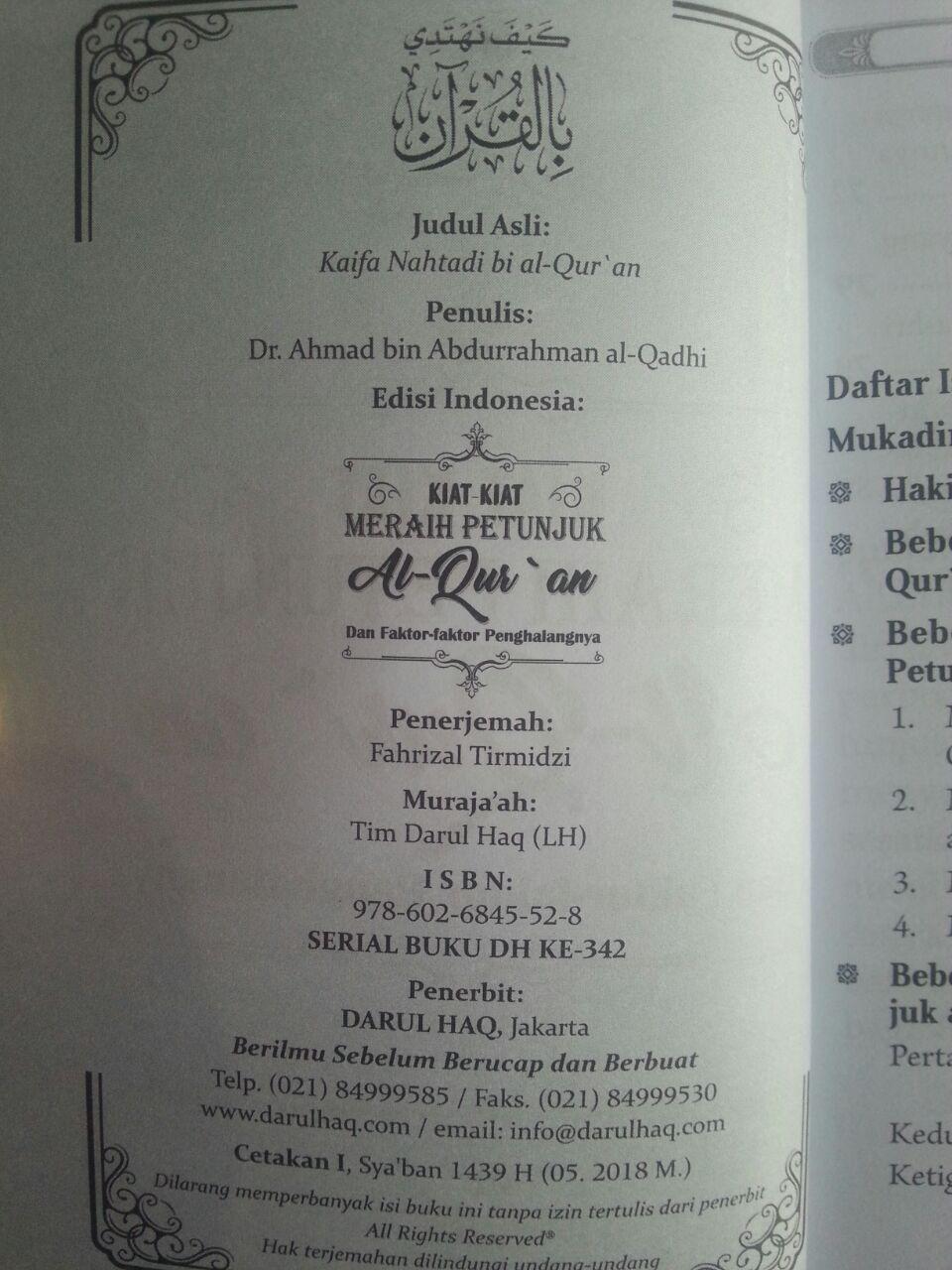 Buku Kiat-Kiat Meraih Petunjuk Al-Qur'an Dan Faktor Penghalang isi 2