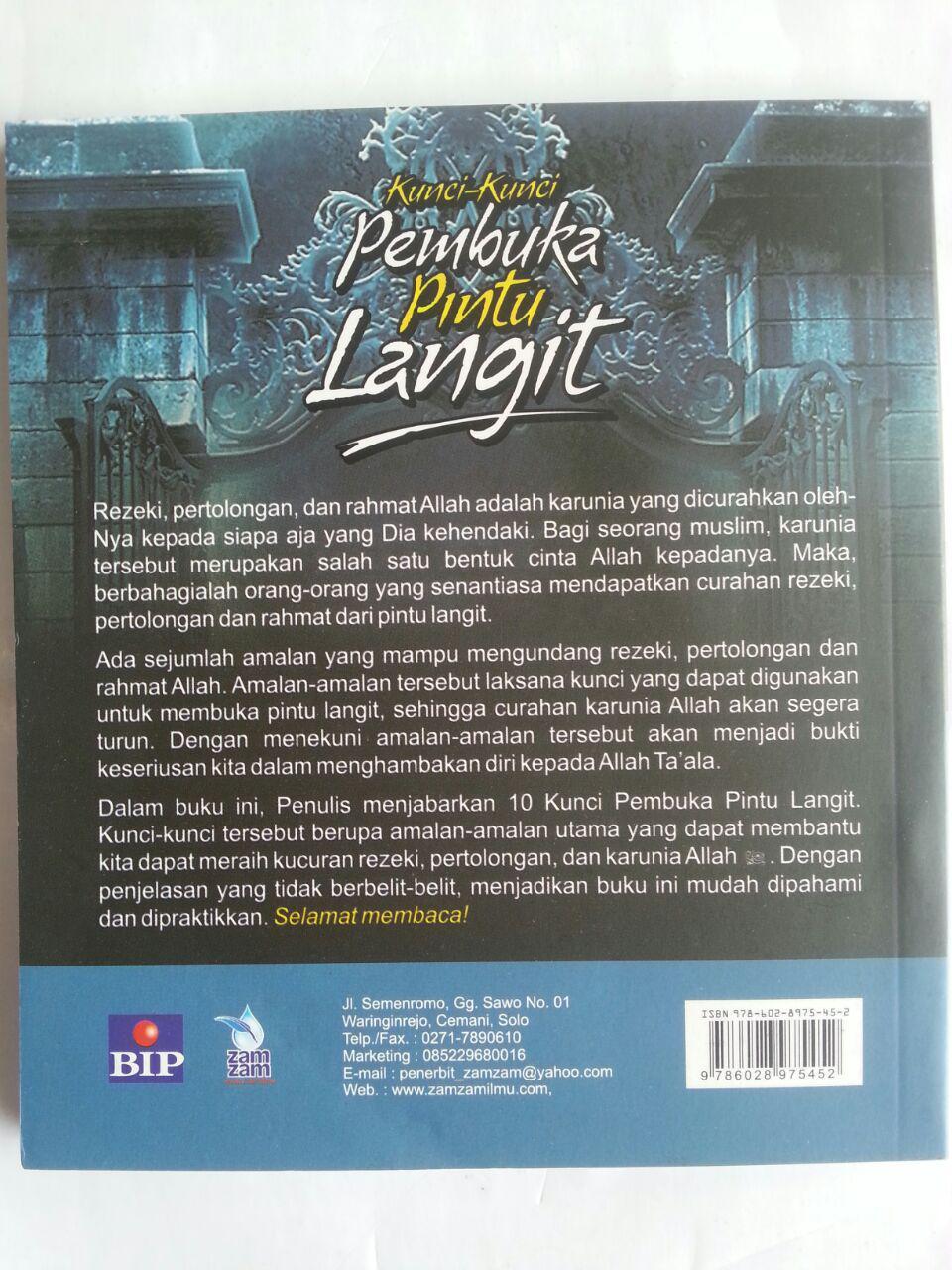 Buku Kunci-Kunci Pembuka Pintu Langit Amalan-Amalan Unggulan cover