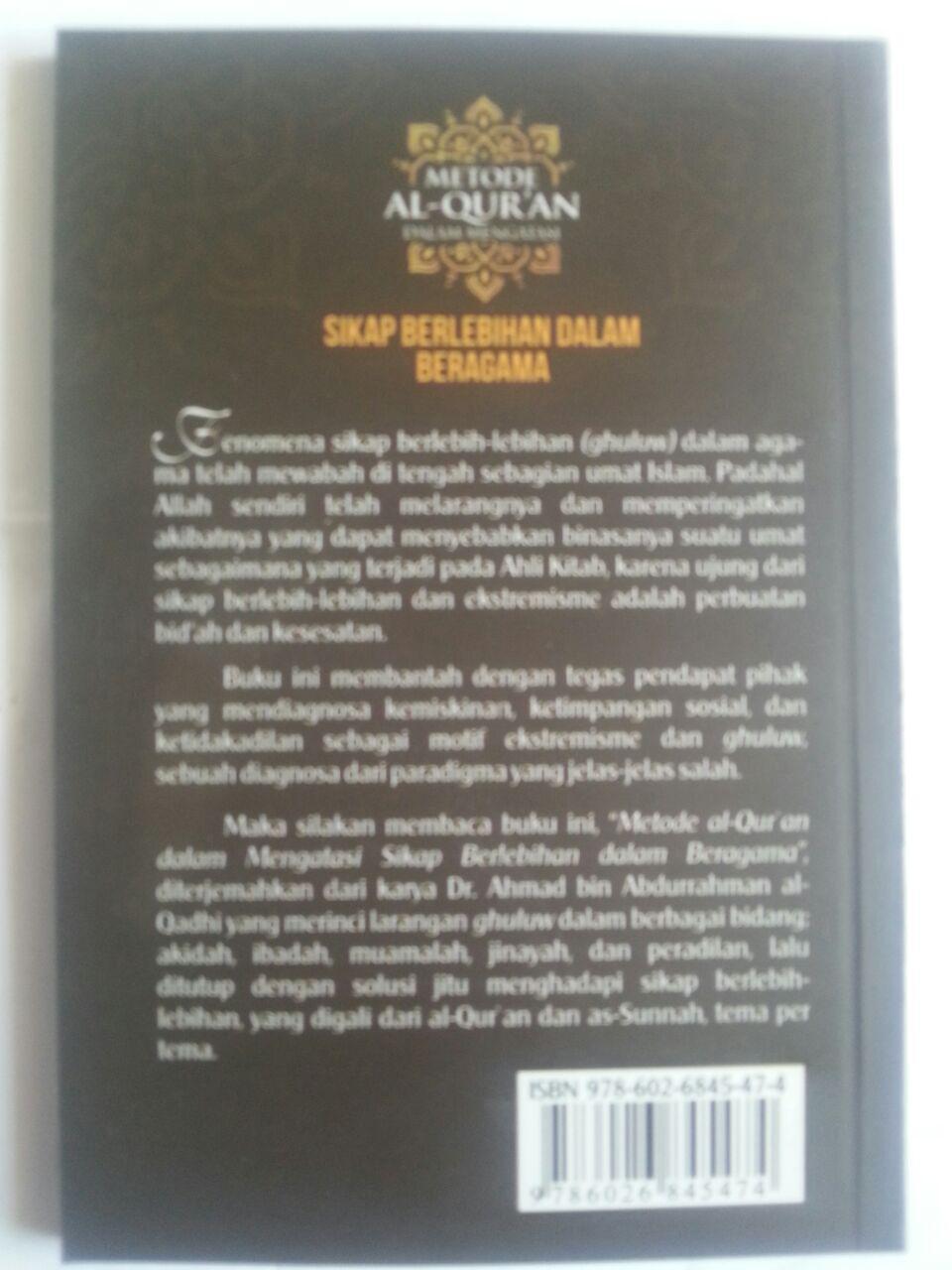 Buku Metode Al-Qur'an Dalam Mengatasi Sikap Berlebihan Dalam Agama cover