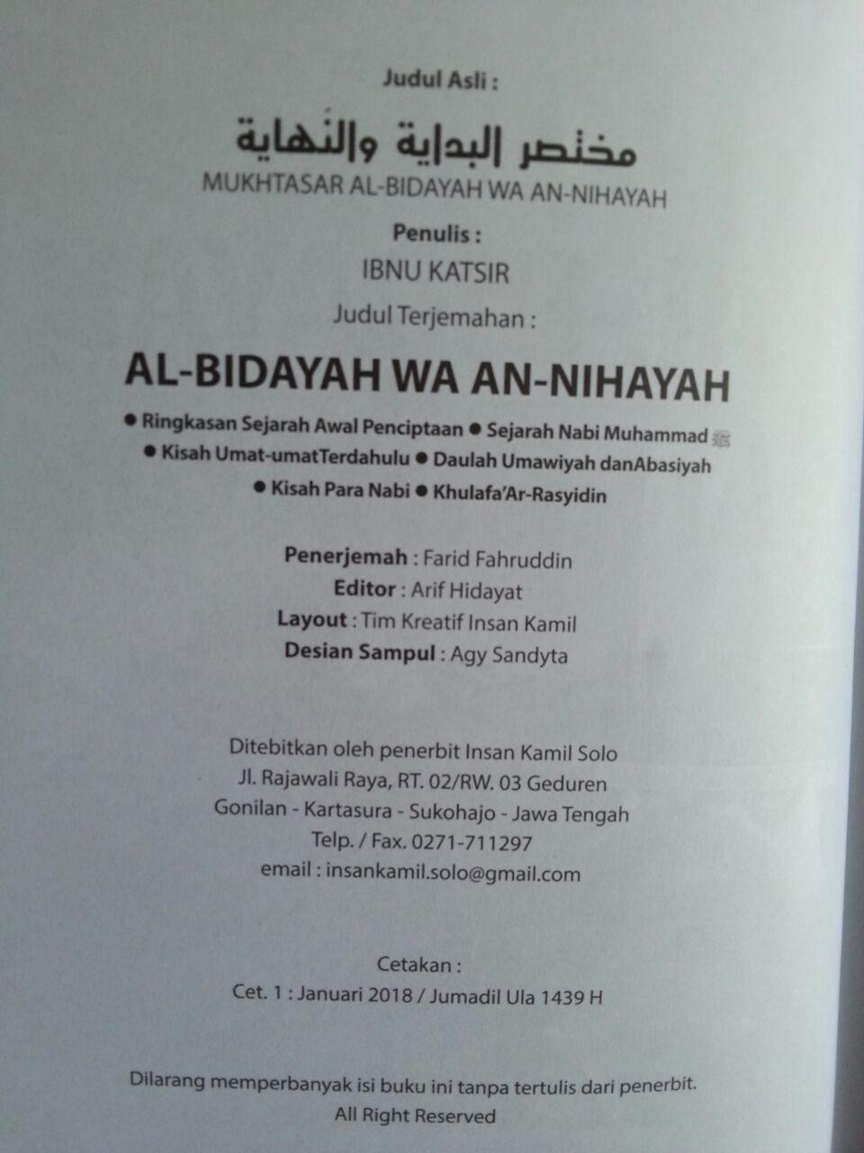 Buku Mukhtashar Al-Bidayah Wa An-Nihayah Ibnu Katsir isi