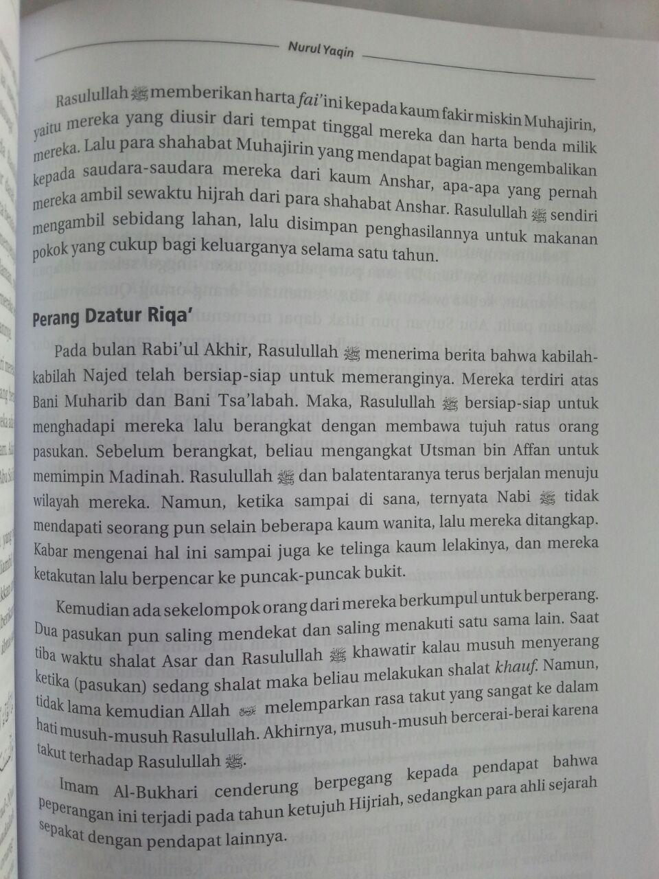Buku Nurul Yakin Sirah Nabi Muhammad Pemimpin Para Rasul isi 4