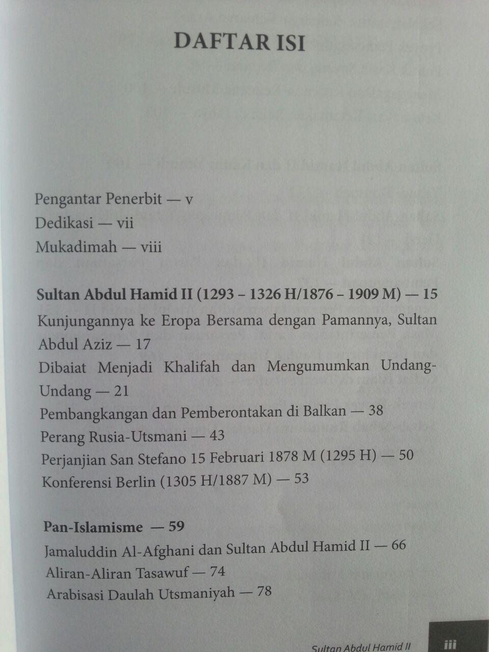 Buku Sultan Abdul Hamid II The Last Khalifa isi 2