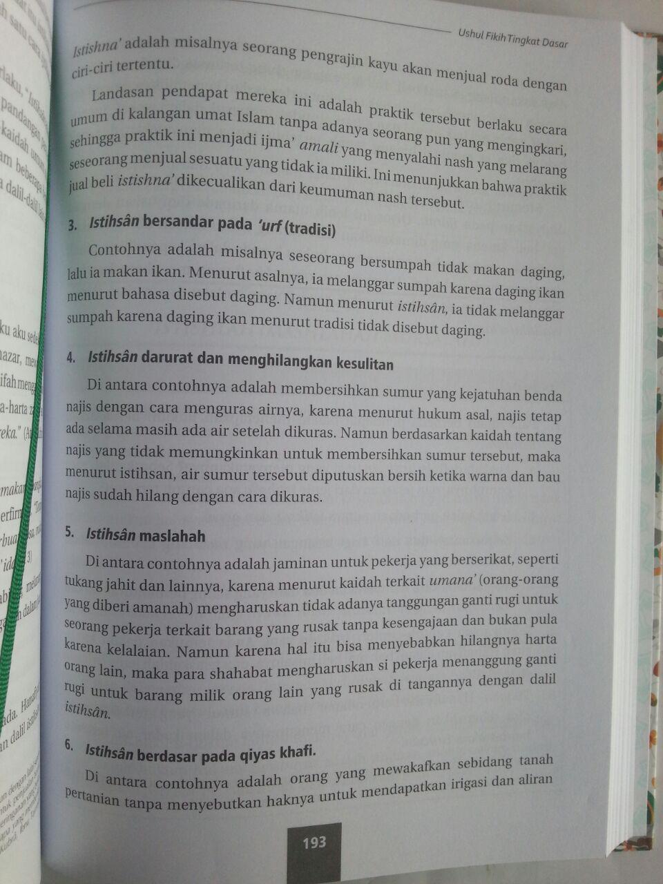 Buku Ushul Fikih Tingkat Dasar Dilengkapi Soal Dan Latihan isi 3