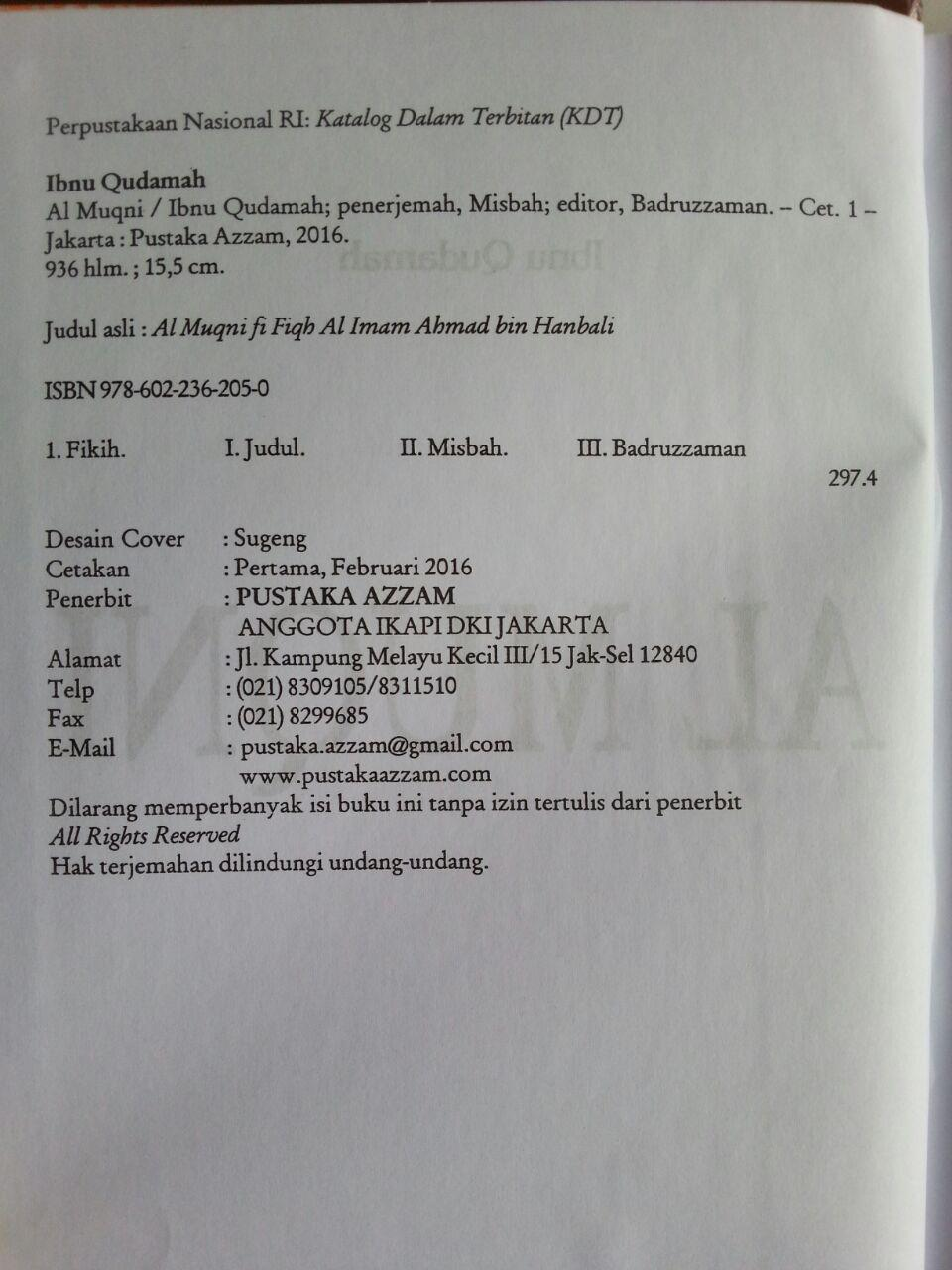 Buku Al-Muqni' Ibnu Qudamah Jilid 1 isi 2