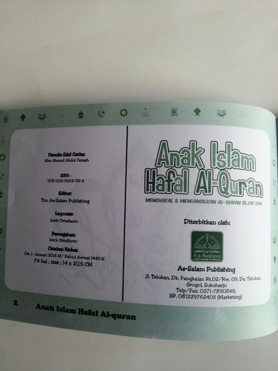 Buku Anak Islam Hafal Al-Quran Sejak Dini isi 2