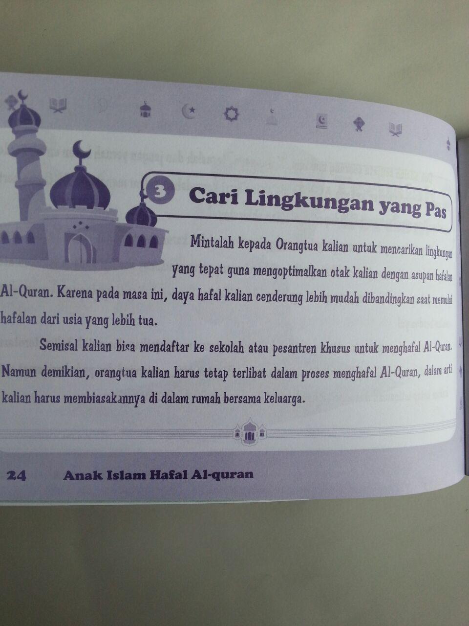 Buku Anak Islam Hafal Al-Quran Sejak Dini isi