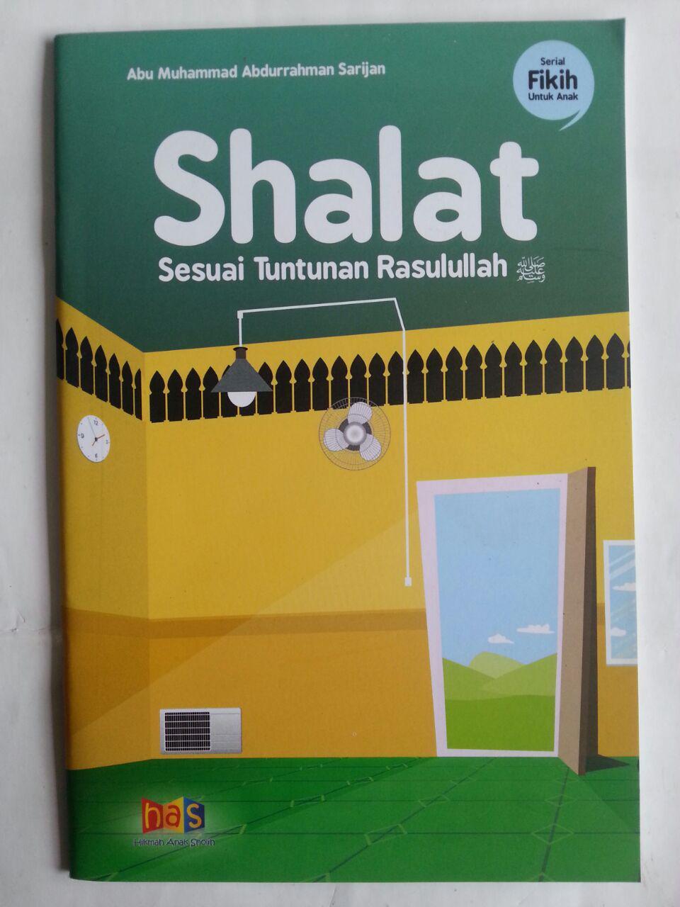Buku Anak Shalat Sesuai Tuntunan Rasulullah cover 2