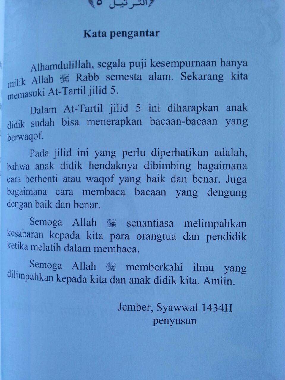 Buku At-Tartil Metode Cepat Memaca Al-Quran Rasm Utsmani Bundel isi