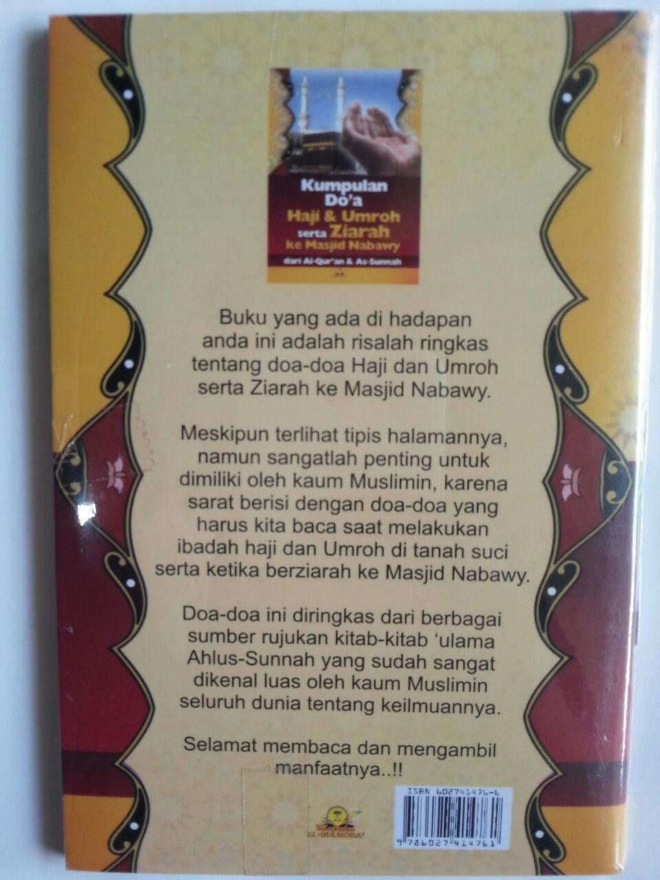 Buku Bimbingan Lengkap Haji Dan Umroh Ziarah Masjid Nabawy cover 2