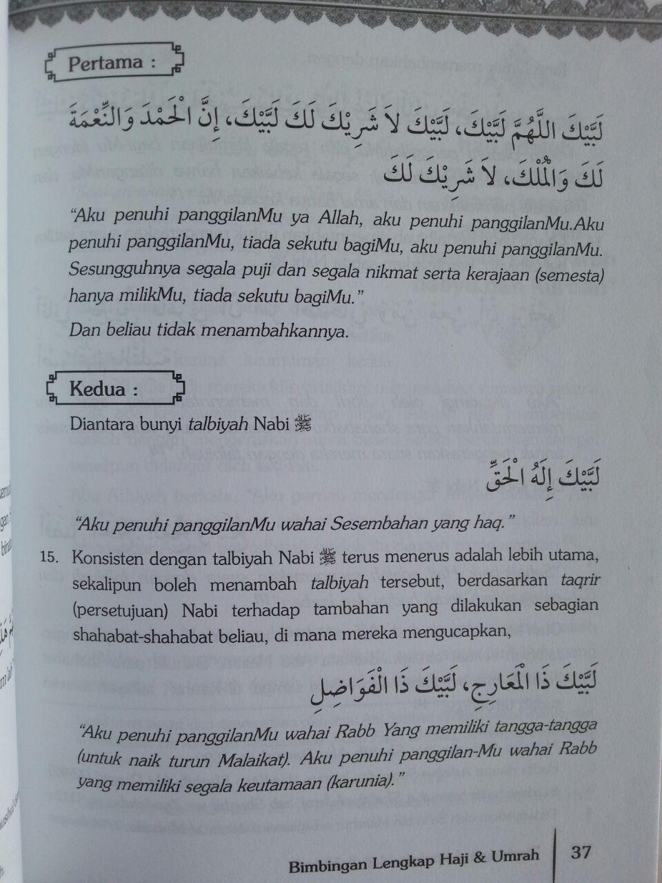 Buku Bimbingan Lengkap Haji Dan Umroh Ziarah Masjid Nabawy isi 3