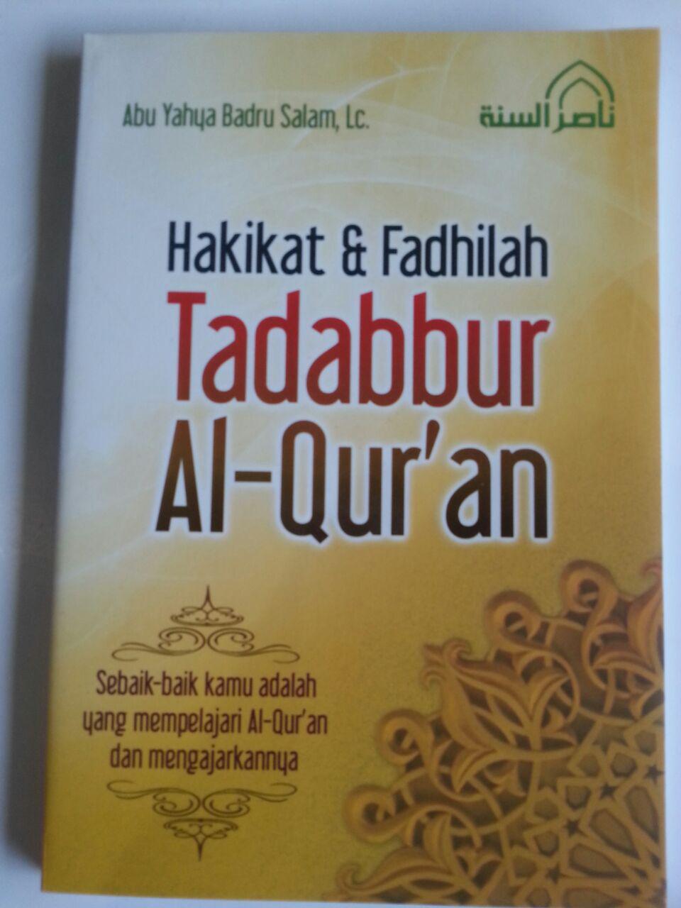 Buku Hakikat Dan Fadhilah Tadabbur Al-Qur'an cover 2