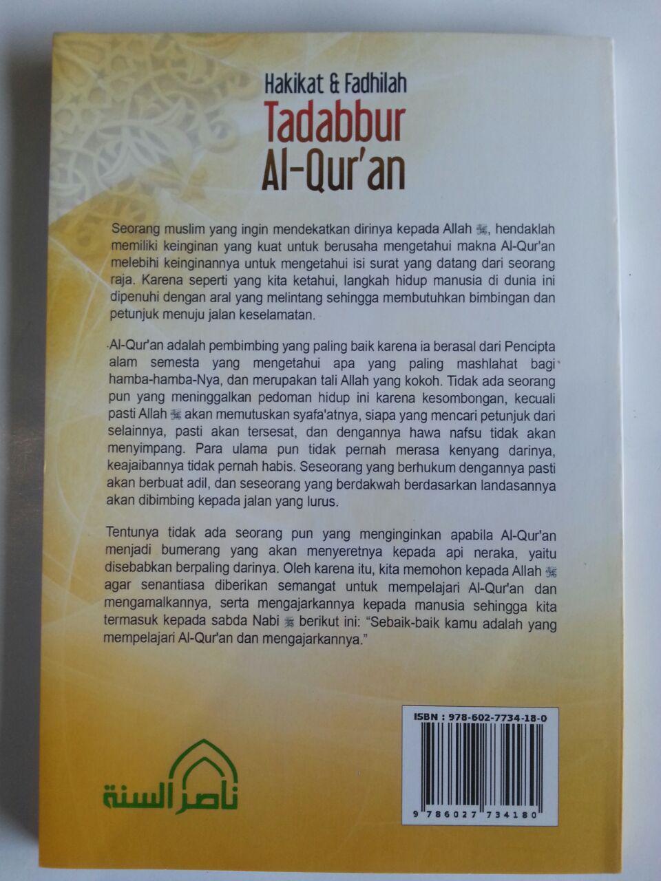Buku Hakikat Dan Fadhilah Tadabbur Al-Qur'an cover