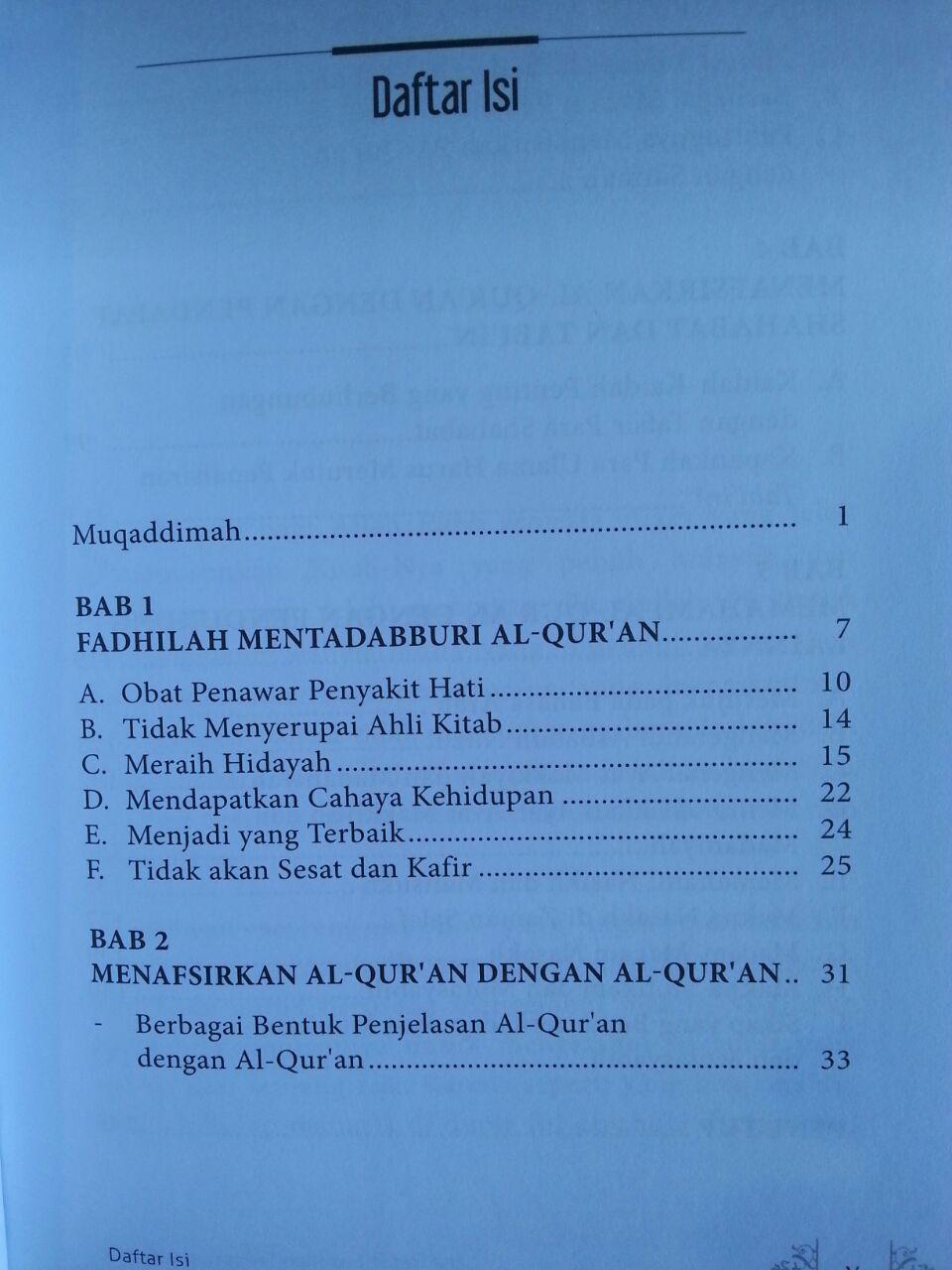 Buku Hakikat Dan Fadhilah Tadabbur Al-Qur'an isi 2