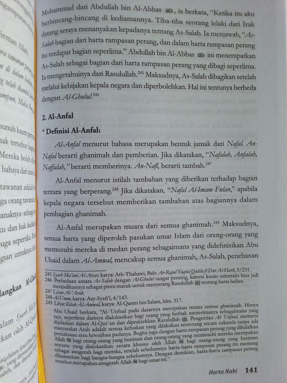 Buku Harta Nabi Sumber Pembelanjaan Dan Wakaf isi 3