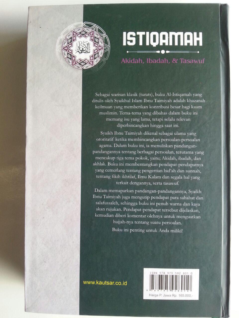 Buku Istiqamah Pelajaran Akidah Ibadah Dan Tasawuf cover