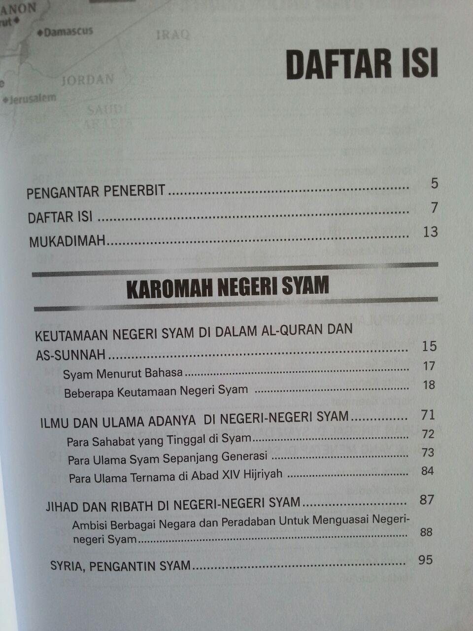 Buku Karomah Negeri Syam Keistimewaan Syam Dan Penduduknya isi
