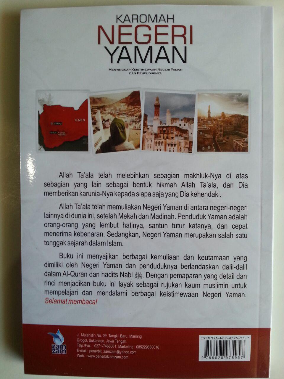 Buku Karomah Negeri Yaman Keistimewaan Yaman Dan Penduduknya cover