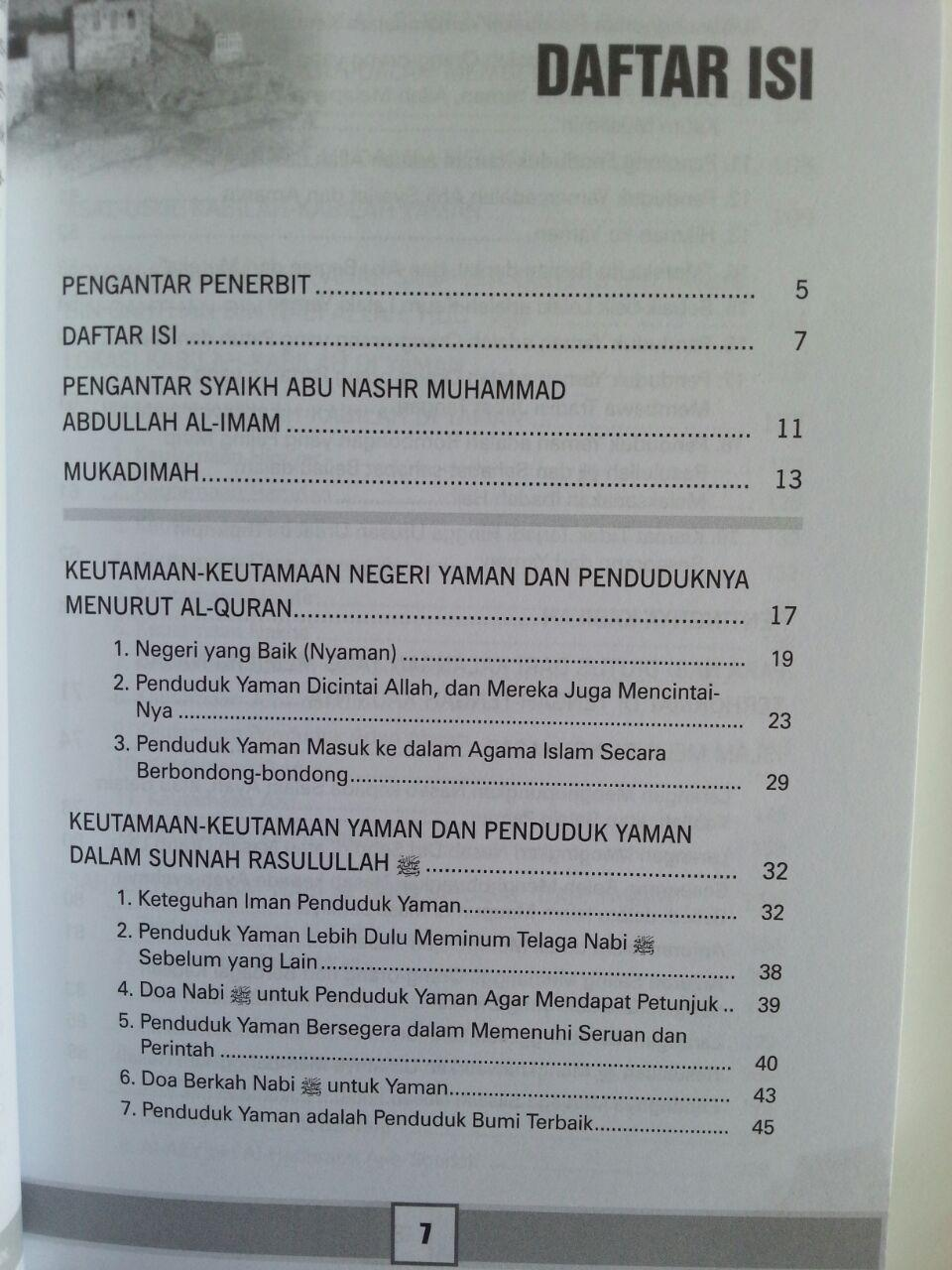 Buku Karomah Negeri Yaman Keistimewaan Yaman Dan Penduduknya isi 2