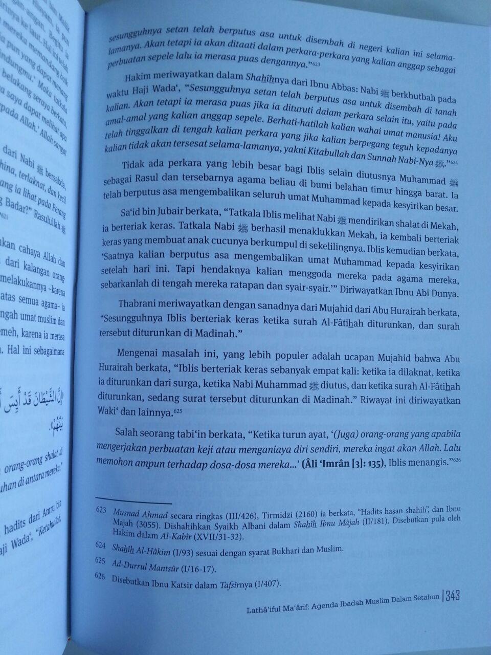Buku Lathaiful Maarif Agenda Ibadah Muslim Dalam Setahun isi 3