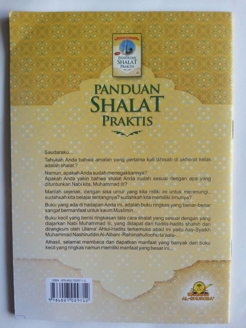 Buku Panduan Shalat Praktis Disertai Gambar Syaikh Albani cover