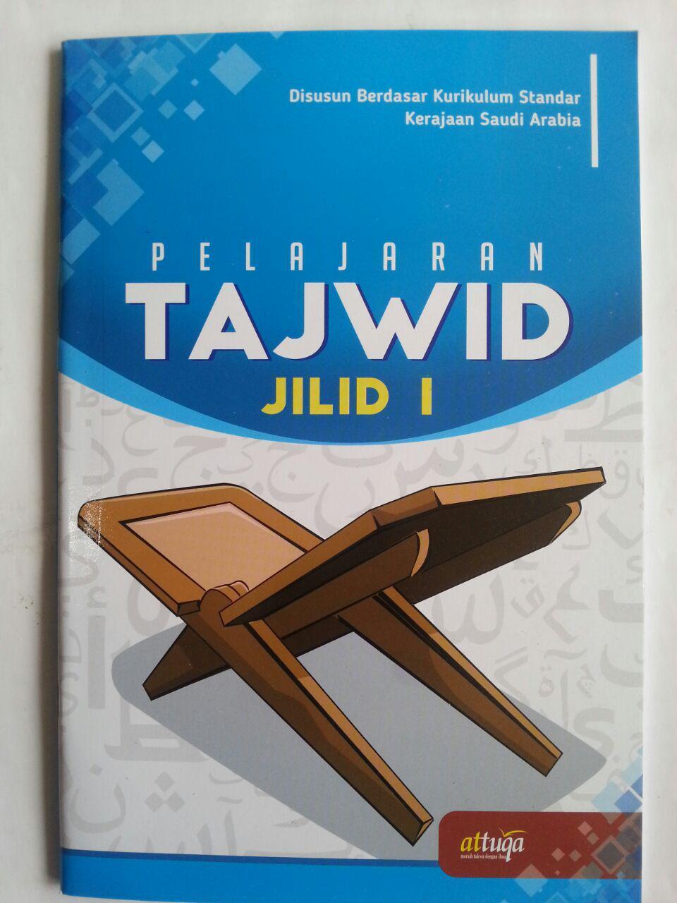 Buku Pelajaran Tajwid Berdasar Kurikulum Saudi Arabia Jilid 1 cover 2