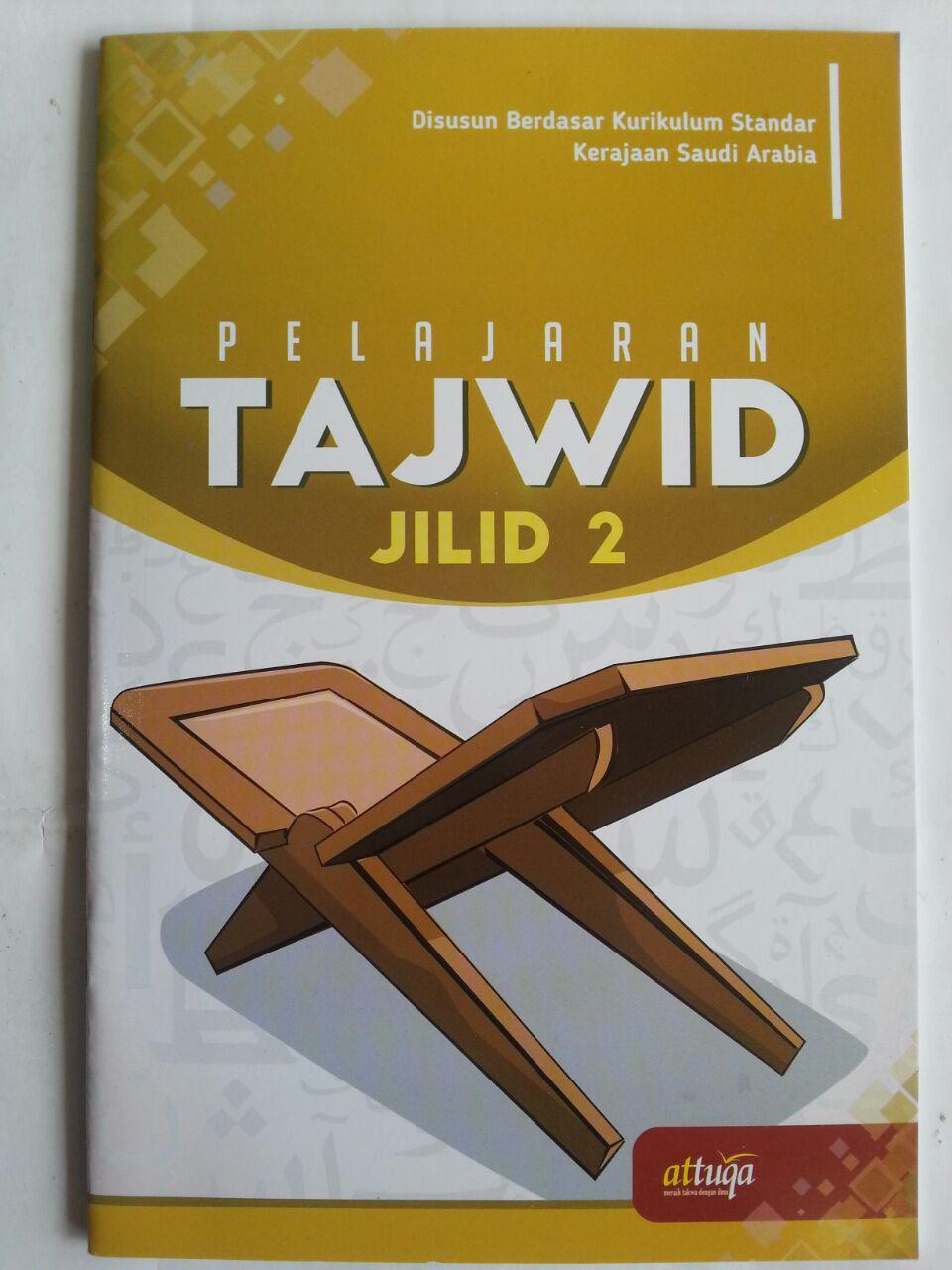 Buku Pelajaran Tajwid Berdasar Kurikulum Saudi Arabia Jilid 2 cover 2