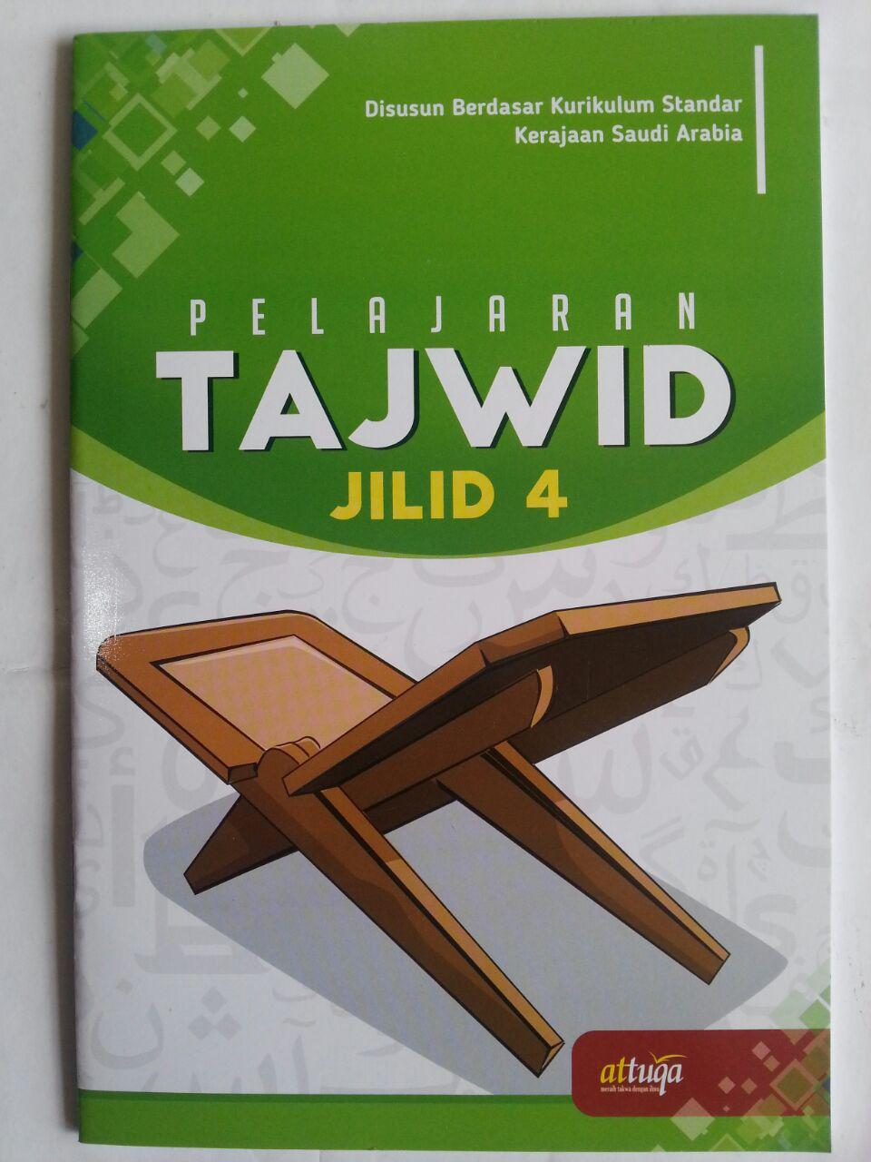 Buku Pelajaran Tajwid Berdasar Kurikulum Saudi Arabia Jilid 4 cover 2