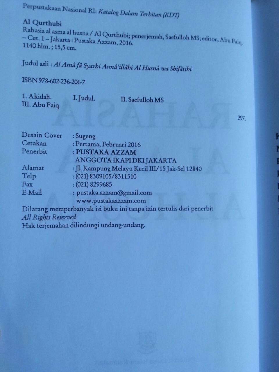Buku Rahasia Asmaul Husna isi