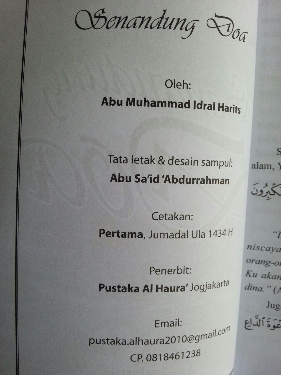 Buku Senandung Doa isi