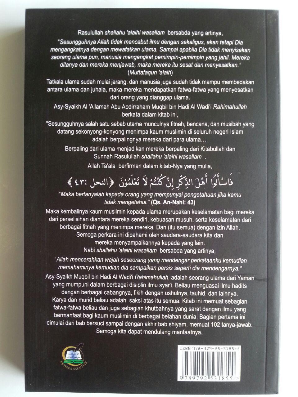 Buku Tanya Jawab Bersama Syaikh Muqbil Set 2 Jilid cover