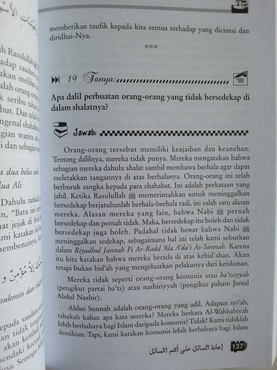 Buku Tanya Jawab Bersama Syaikh Muqbil Set 2 Jilid isi 3