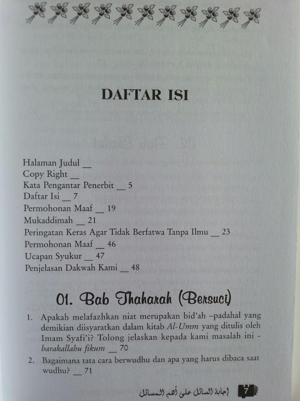 Buku Tanya Jawab Bersama Syaikh Muqbil Set 2 Jilid isi