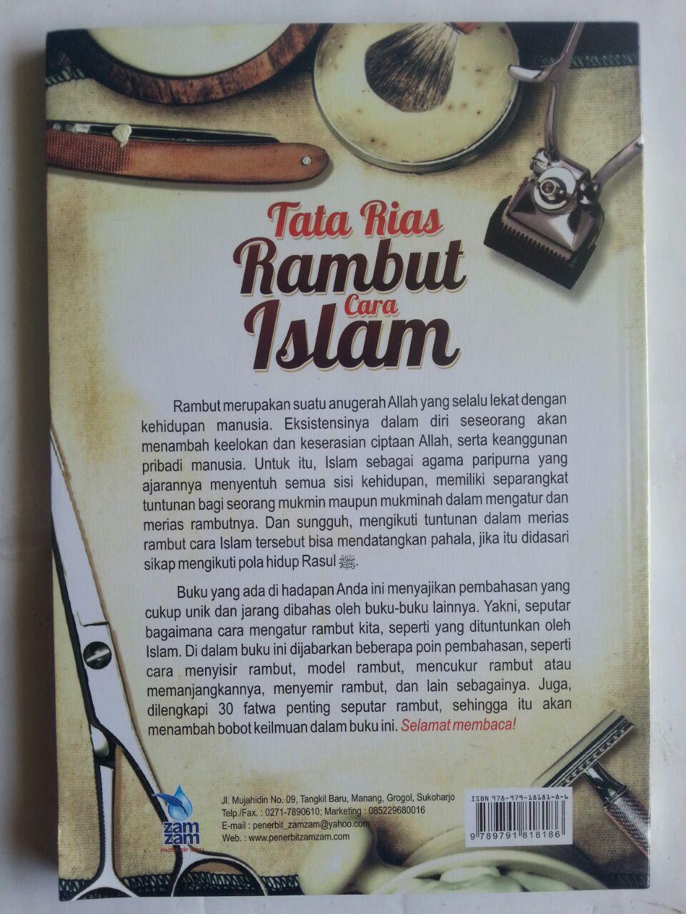 Buku Tata Rias Rambut Cara Islam cover