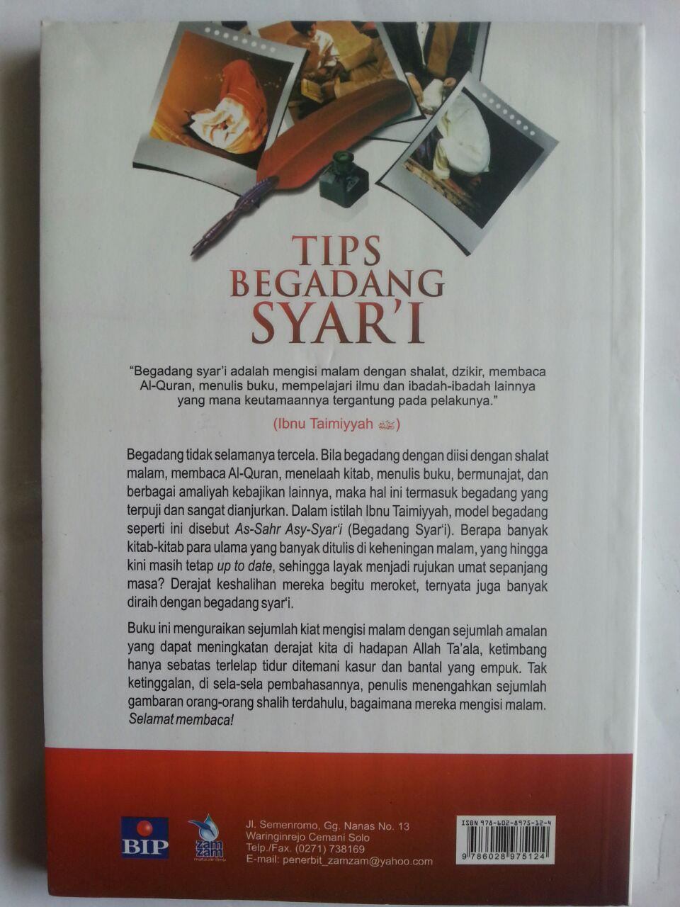 Buku Tips Begadang Syar'I Mendulang Berkah Malam cover