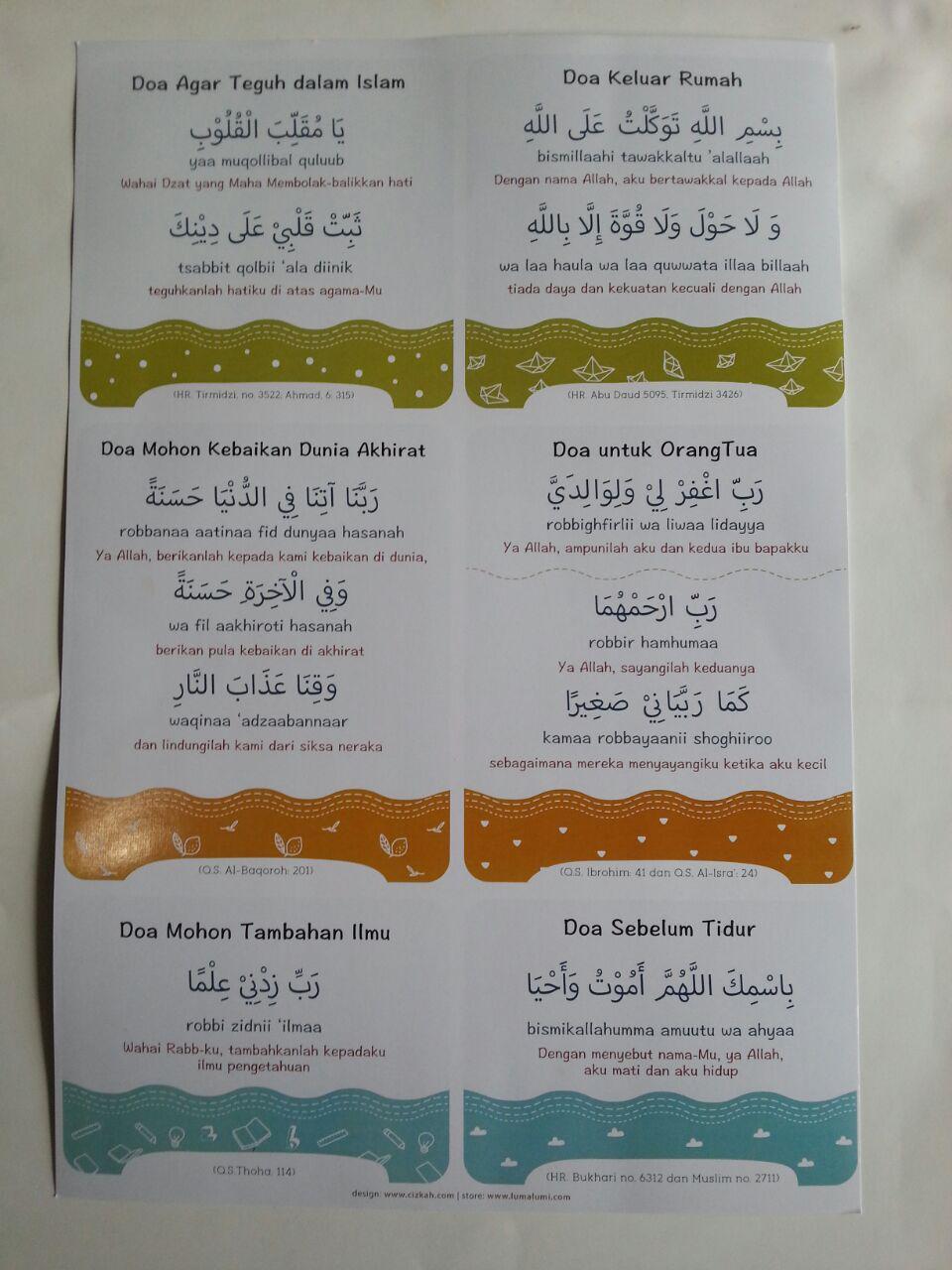 Poster Doa-Doa Harian isi 2