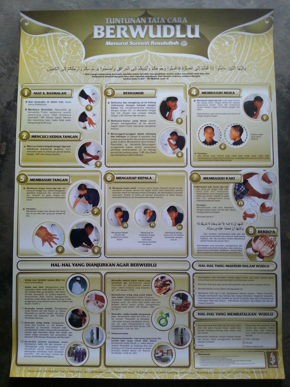 Poster Tuntunan Tata Cara Berwudhu