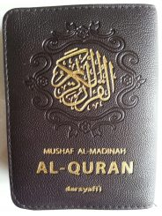 Al-Qur'an Saku Mushaf Al-Madinah Resleting Ukuran A7 cover