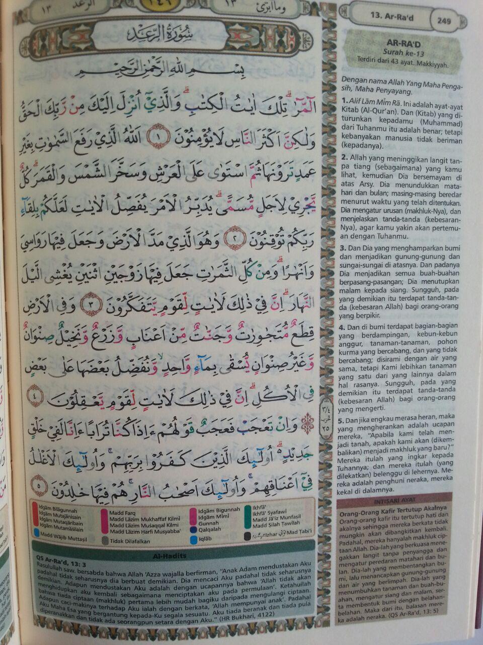 Al-Qur'an Tajwid Dan Terjemah Bukhara Ukuran B6 isi