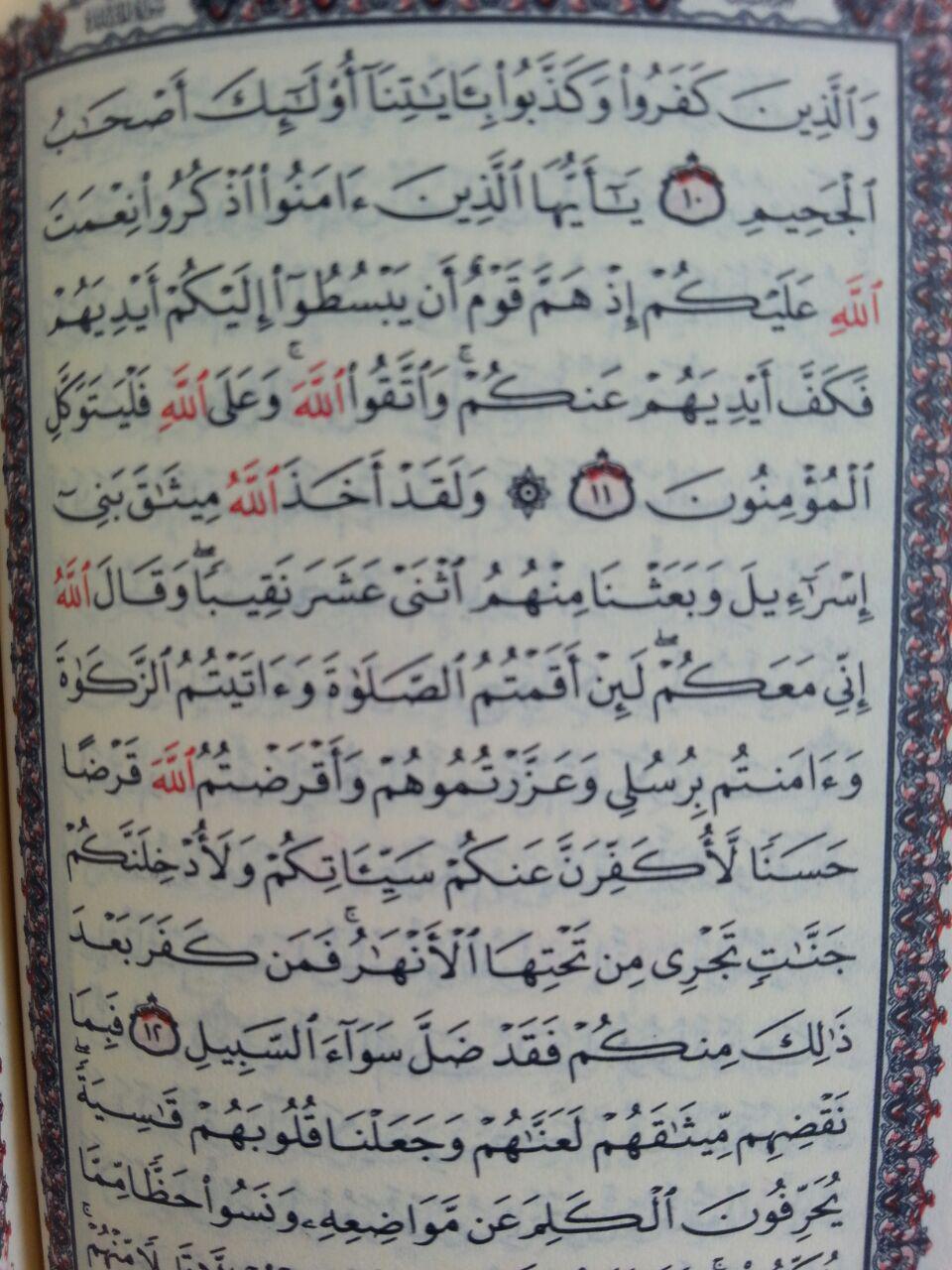 Al-Qur'an Saku Impor Tanpa Terjemah Ukuran 7x10 isi