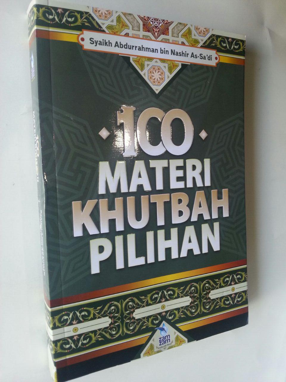 Buku 100 Materi Khutbah Pilihan cover