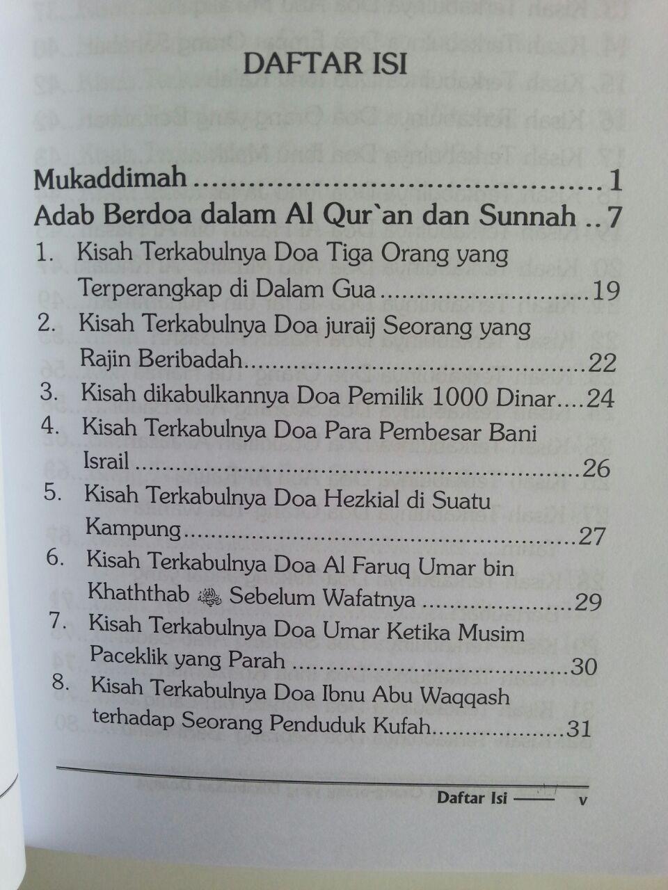 Buku 101 Kisah Orang-Orang Yang Dikabulkan Doanya isi 2