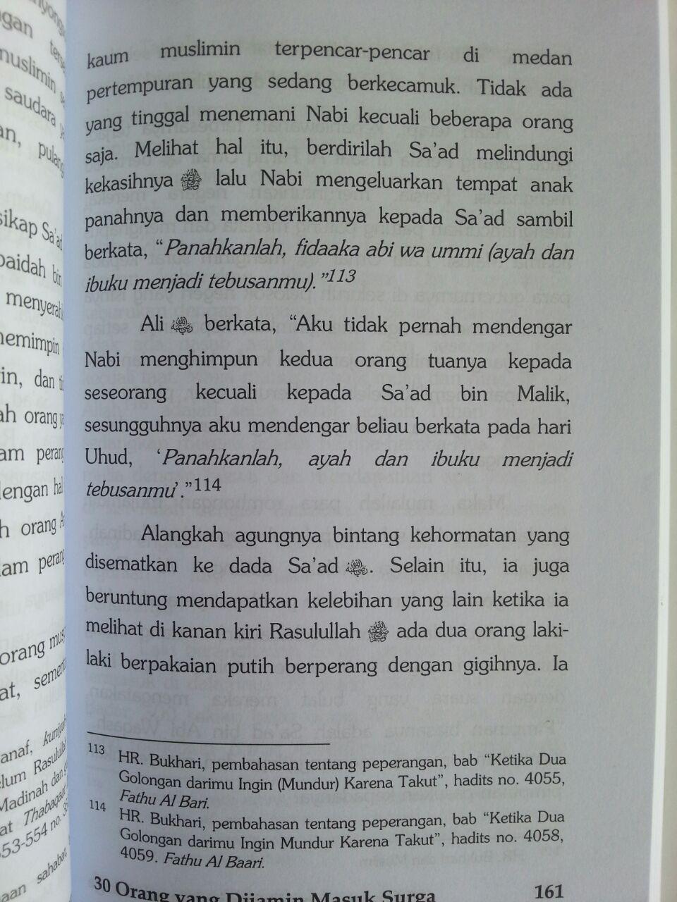 Buku 30 Orang Yang Dijamin Masuk Surga isi 3